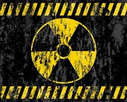 grunge radiation sign background. Vector illustrator.