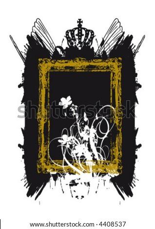 Grunge Rahmen mit Ornamenten Stock foto ©