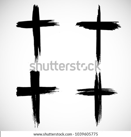 grunge religion cross  black