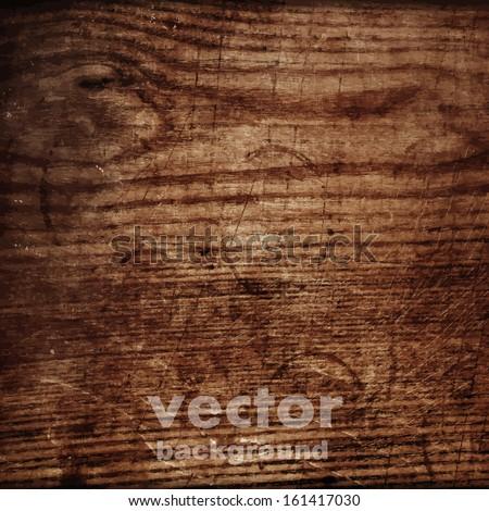 grunge retro vintage wooden texture, vector background