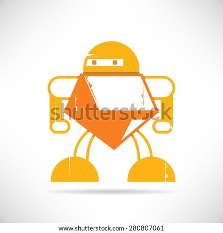 grunge robot  cute robot