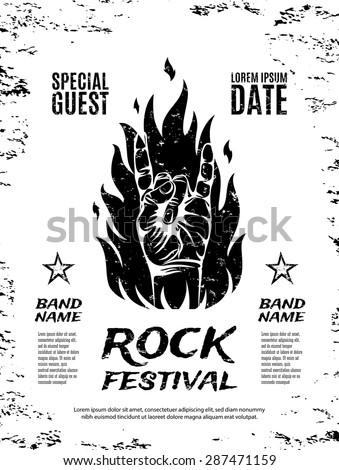 grunge  rock festival poster