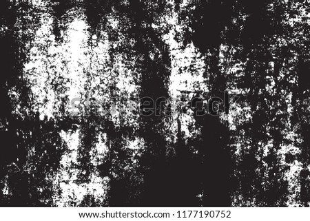 Grunge rough dirty background. Overlay aged grainy messy template. Distress urban used texture. Brushed black paint cover. Renovate wall frame grimy backdrop. Empty aging design element. EPS10 vector.