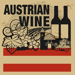 Grunge rubber stamp or label with words Austrian Wine, vector illustration