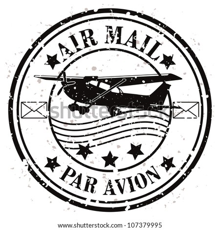 Aircraft Rubber Stamps Grunge Rubber Stamp / Vector