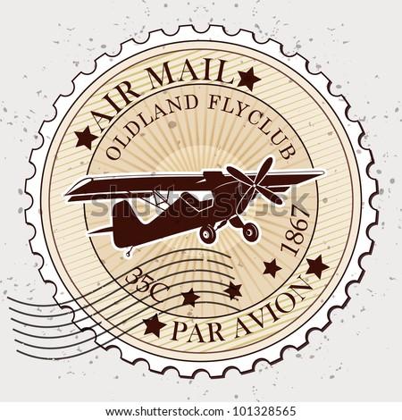 Grunge rubber stamp / Vector grunge air mail / Stamp design