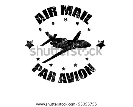 Aircraft Rubber Stamps Grunge Rubber Stamp With