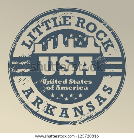 Grunge rubber stamp with name of Arkansas, Little Rock, vector illustration