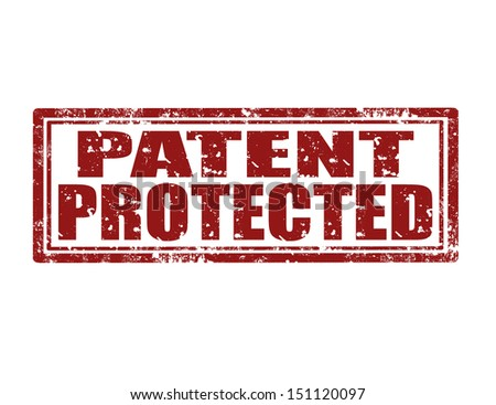 Grunge rubber stamp with text Patent Protected,vector illustration