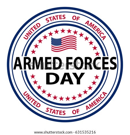 Grunge rubber stamp with the text Armed Forces Day. Armed forces day template poster design. Vector illustration of background for Armed forces day. Celebration background for Armed Forces Day