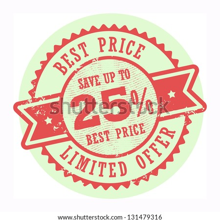 Grunge rubber stamp with the text Best Price, Limited Offer written inside the stamp, vector illustration