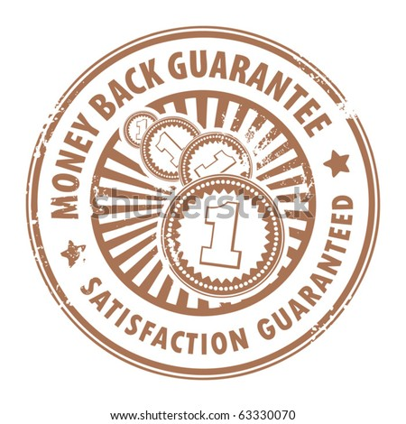 Grunge rubber stamp with the text money back guarantee inside, vector illustration