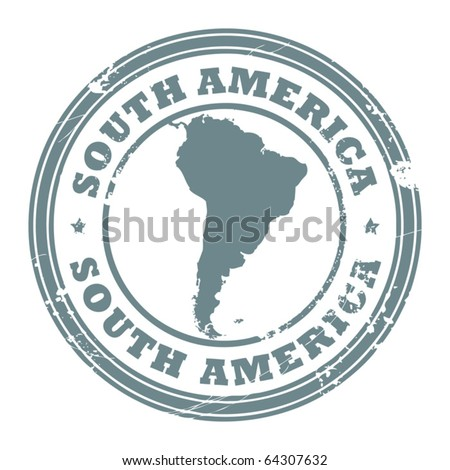 Grunge rubber stamp with the text South America written inside the stamp, vector illustration