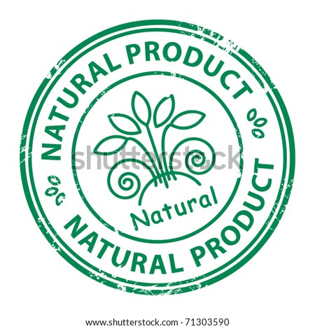 Grunge rubber stamp with the word Natural Product inside, vector illustration - stock vector