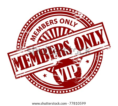 Grunge rubber stamp with the words Members Only, VIP inside, vector illustration - stock vector