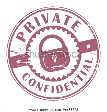 Grunge rubber stamp with the words Private, Confidential inside, vector illustration