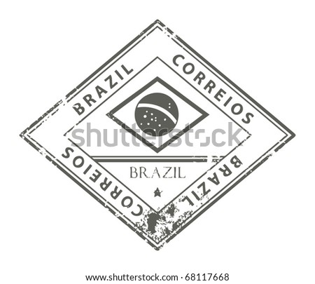 Grunge rubber stamp with word Brazil, vector illustration
