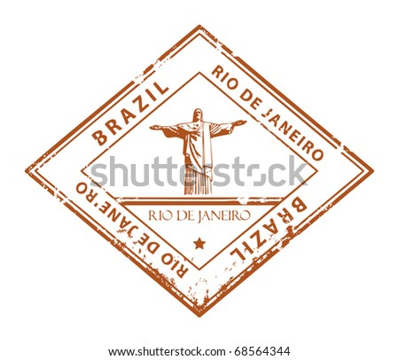 Grunge rubber stamp with word Rio de Janeiro, Brazil, vector illustration