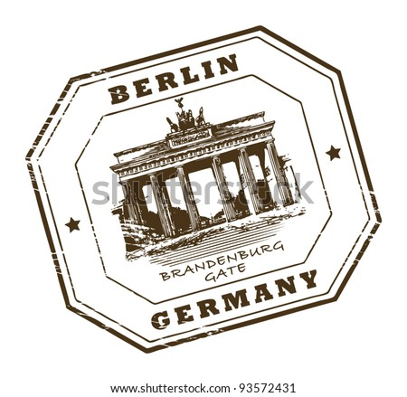 Grunge rubber stamp with words Berlin, Germany inside, vector illustration - stock vector