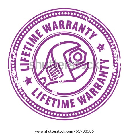 with wrench and the word Lifetime warranty inside, vector illustration
