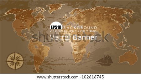Free ancient global map vector download free vector art stock grunge rustic world map this illustration is an eps10 file and contains several transparencies gumiabroncs Gallery