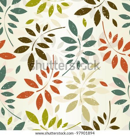 grunge seamless pattern of