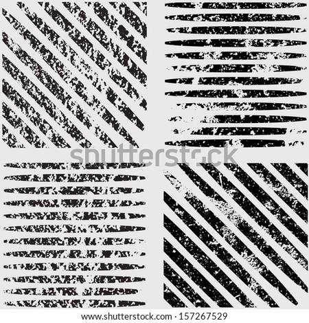 Grunge set stripe. Vector illustration.  #157267529