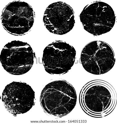 Grunge shapes
