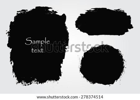 Grunge shapes.Grunge design elements.Abstract vector illustration. #278374514