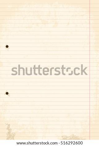 grunge sheet of line paper....