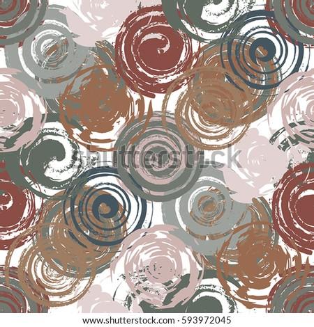grunge spiral and round stamp