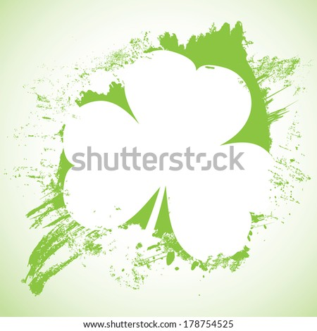 Grunge St. Patrick Day background, vector illustration