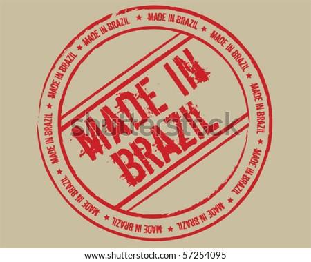 Grunge stamp made in Brazil