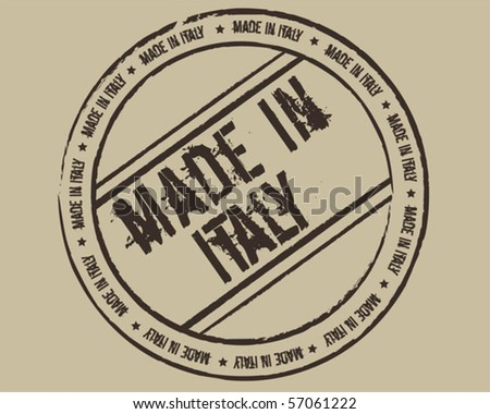 Grunge Stamp Made In Italy Stock Vector Illustration ...