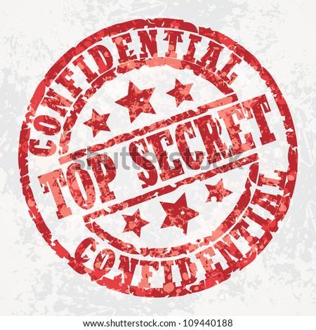 Grunge stamp top secret