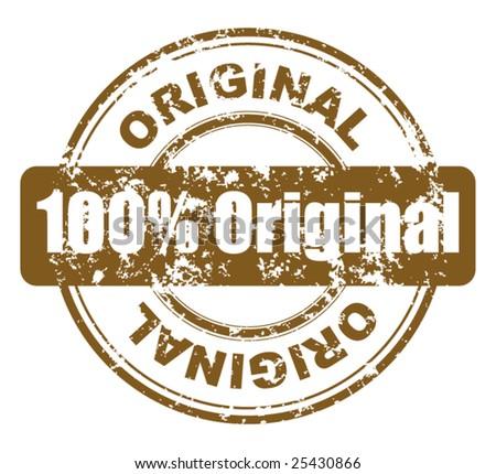 grunge stamp with 100  original