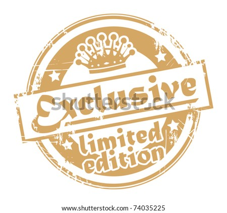 Grunge stamp with the words exclusive - limited edition written inside the stamp, vector illustration