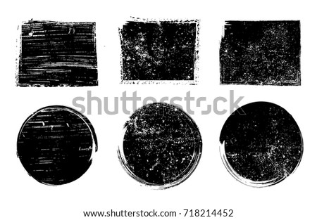 Grunge stamps collection.Vector grunge design elements.