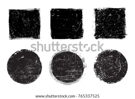 Grunge stamps collection.Vector grunge design elements. #765337525