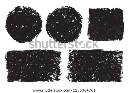 Grunge stamps set.Vector grunge shapes. #1235364961