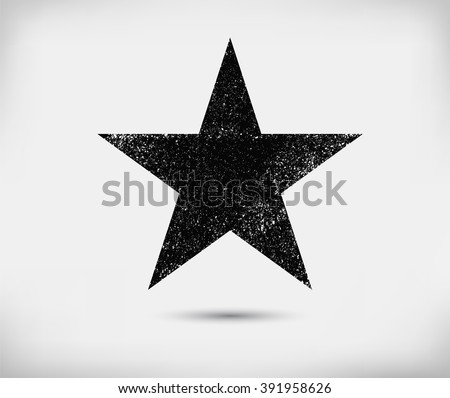 grunge star backgroundvector
