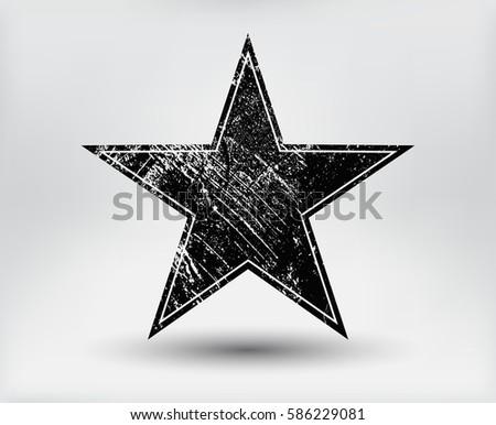 grunge star symbolvector