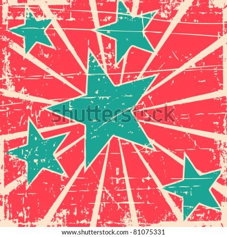 grunge stars vector background