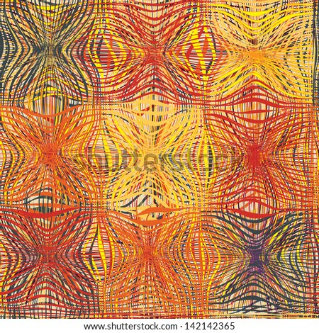Grunge striped and quilted colorful seamless pattern