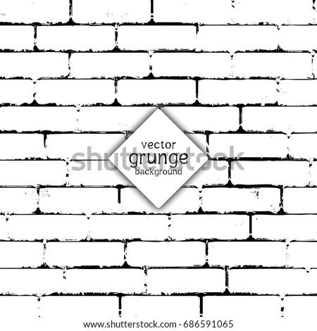 Grunge style brick wall texture