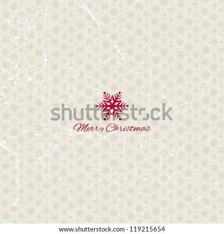 Grunge style Christmas snowflake background