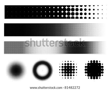 Grunge style elements set - vector