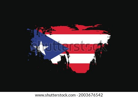 Grunge Style Flag of the Puerto Rico. It will be used t-shirt graphics, print, poster and Background. Foto stock ©