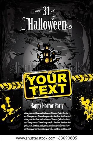 Grunge Style Halloween Background for Stylish Flyers