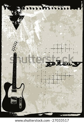 Grunge style music themed complete layout in vector format